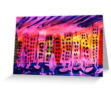 Abstract Cityscape, watercolor Greeting Card
