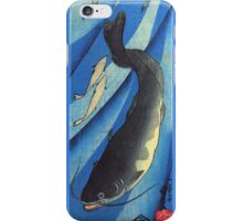 Japanese Print: Deep Blue Fish iPhone Case/Skin