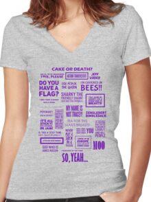Eddie Izzard - Izzardisms! Women's Fitted V-Neck T-Shirt