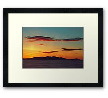 Red Clouds over the Yellow island of Arran Framed Print