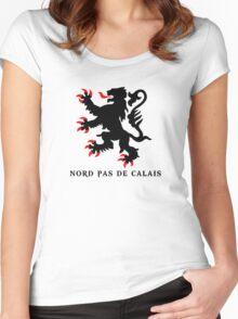 lion nord pas de calais scotland chti Ch'ti Women's Fitted Scoop T-Shirt