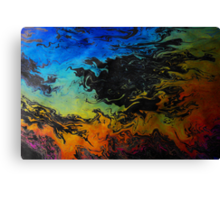 Oil On Water Canvas Print