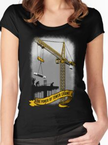 The Power Of Tower Crane Women's Fitted Scoop T-Shirt