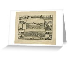 Chicago in Early Days 1779-1857 Greeting Card
