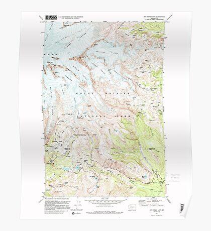 USGS Topo Map Washington State WA Mt Rainier East 242653 1971 24000 Poster