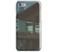 Japanese Print:  Terrace at Night iPhone Case/Skin