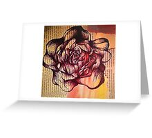 Vintage Rose Shabby Chic Collage Greeting Card