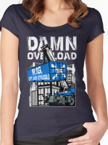 Rig Lift and Struggle Women's Fitted Scoop T-Shirt
