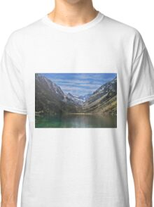 Spain, The Pyrenees Mountains a tranquil mountain lake Classic T-Shirt