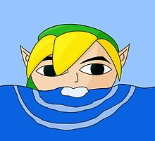 Swimming Link by Blackmoonrose13