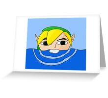 Swimming Link Greeting Card