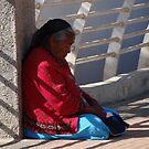 Old Lady At The Bridge - Señora Vieja En El Puente by Bernhard Matejka