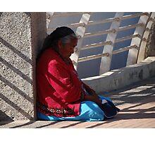 Old Lady At The Bridge - Señora Vieja En El Puente Photographic Print