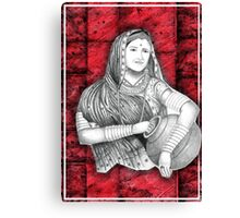 Indian Lady Canvas Print
