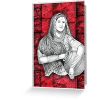 Indian Lady Greeting Card