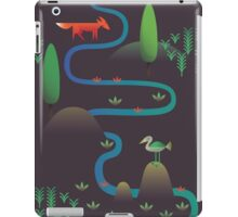 Landscape - Fox and Stream 2 (Pattern) iPad Case/Skin