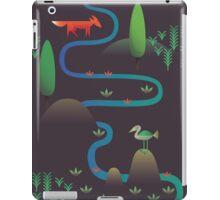 Landscape - Fox and Stream 2 (Pattern) iPad Case/Skin