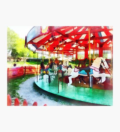 Sunny Afternoon on the Carousel Photographic Print