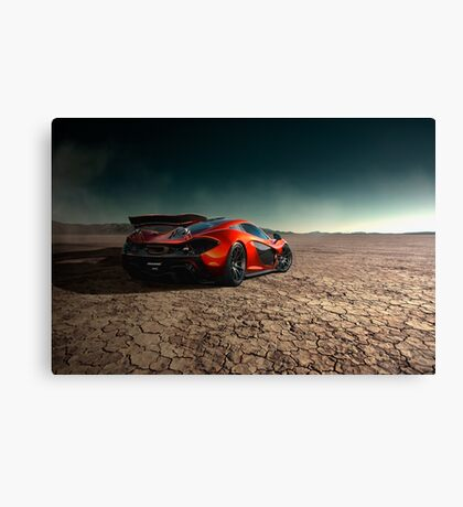 McLaren P1 | Black Rock Canvas Print