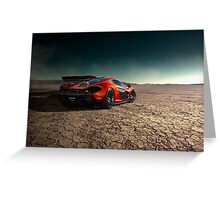 McLaren P1 | Black Rock Greeting Card