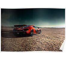 McLaren P1 | Black Rock Poster