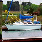 Boat Docked In Southport, NC by Cynthia48