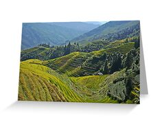 China, Guilin landscape with Ping An Rice Terraces Greeting Card