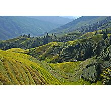 China, Guilin landscape with Ping An Rice Terraces Photographic Print