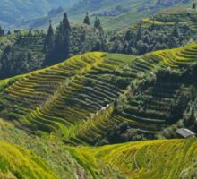 China, Guilin landscape with Ping An Rice Terraces Sticker