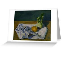 still life with fennel Greeting Card