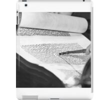 Reading the Torah scrolls  iPad Case/Skin