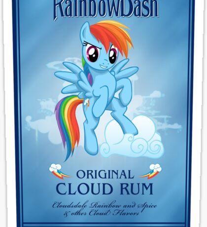 Rainbowdash  Spiced Rum Sticker
