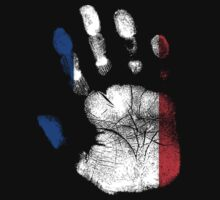 Flag Handprint - France (Faded) by SkinnyJoe
