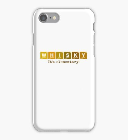 Whisky - It's Elementary! iPhone Case/Skin
