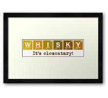 Whisky - It's Elementary! Framed Print