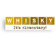 Whisky - It's Elementary! Canvas Print