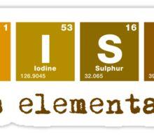 Whisky - It's Elementary! Sticker