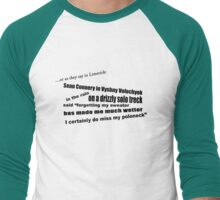 as they say in limerick(2) Men's Baseball ¾ T-Shirt