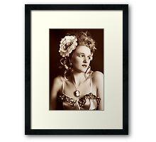 I Wonder (Vintage Beauty) Framed Print
