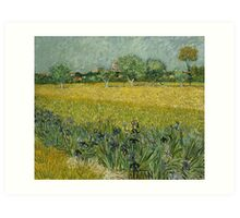 View of Arles with Irises by Vincent van Gogh Art Print