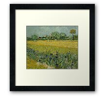 View of Arles with Irises by Vincent van Gogh Framed Print