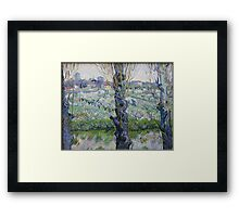 View of Arles, Flowering Orchards by Vincent van Gogh Framed Print