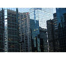 More Blue Glass Reflections Photographic Print