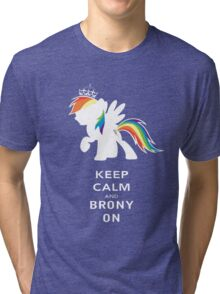 Keep Calm And Brony On Tri-blend T-Shirt