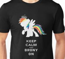 Keep Calm And Brony On Unisex T-Shirt