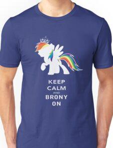Keep Calm And Brony On Unisex T-Shirt