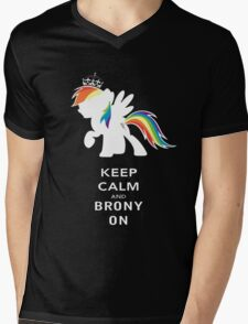 Keep Calm And Brony On Mens V-Neck T-Shirt