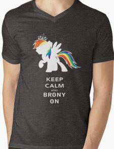 Keep Calm And Brony On Mens V-Neck T-Shirt