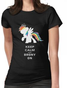 Keep Calm And Brony On Womens Fitted T-Shirt
