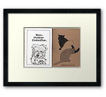 Max & Three Cats Framed Print